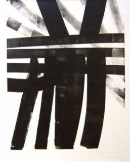 Lithograph Hartung - Hommage à Saint Sébastien Bach