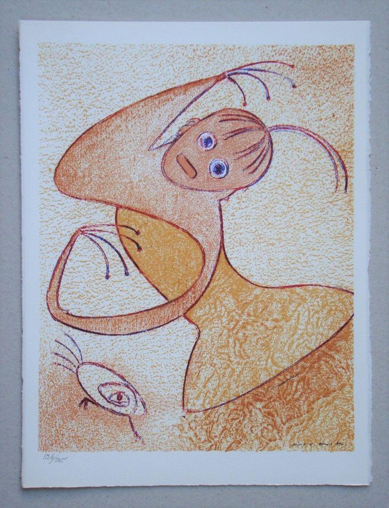 Lithograph Ernst - Hommage à San Lazzaro