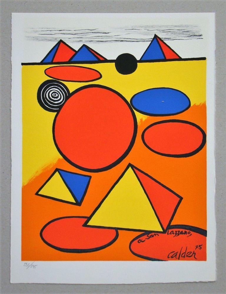 Lithograph Calder - Hommage à San Lazzaro