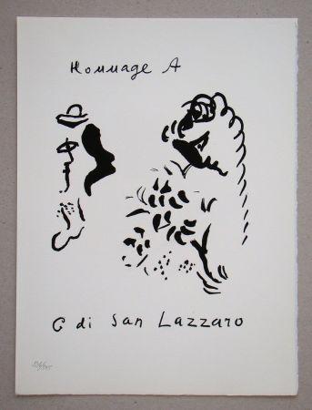 Lithograph Chagall - Hommage à San Lazzaro