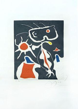 Etching Miró - Hommage à San Lazzaro