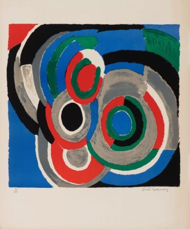 Lithograph Delaunay - Hommage à Stravinsky