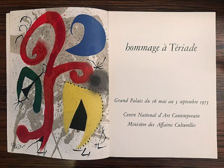 Illustrated Book Miró - Hommage à Teriade