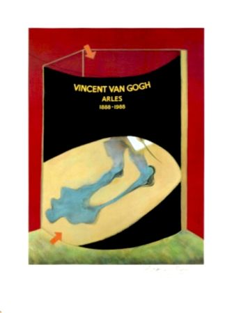 Lithograph Bacon - Hommage à Van Gogh