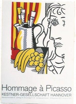 Poster Lichtenstein - Hommage á Picasso