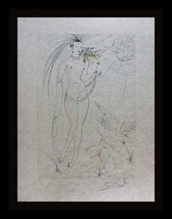 Etching Dali - Hommage a Albrecht Durer Venus & Cupid
