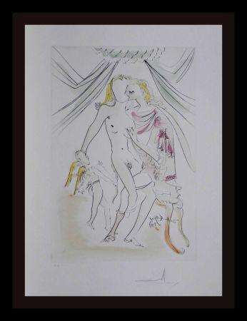 Etching Dali -  Hommage a Albrecht Durer Venus Mars Cupidon