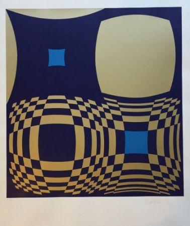 Screenprint Vasarely - Hommage a Bartók