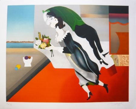 Lithograph Papart - HOMMAGE A CHAGALL
