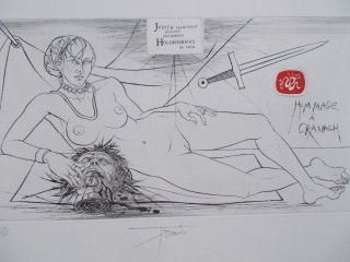 Etching Trémois - Hommage a Cranach