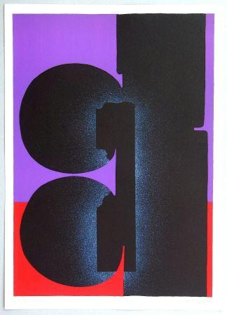 Lithograph Kijno - Hommage a Fellini