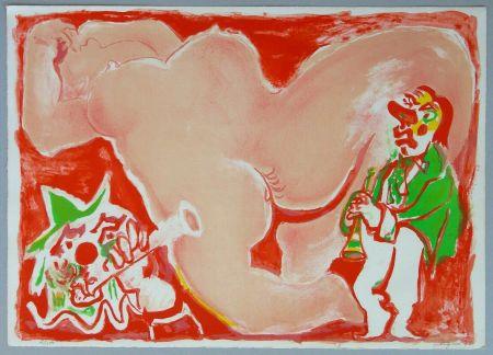 Lithograph Pignon - Hommage a Fellini