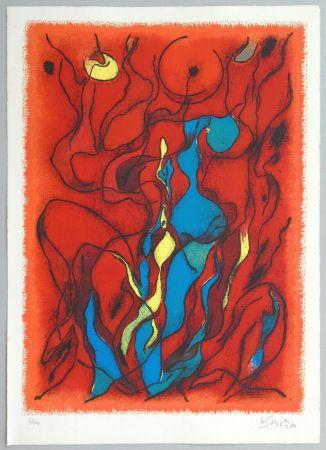 Lithograph Singier - Hommage a Fellini
