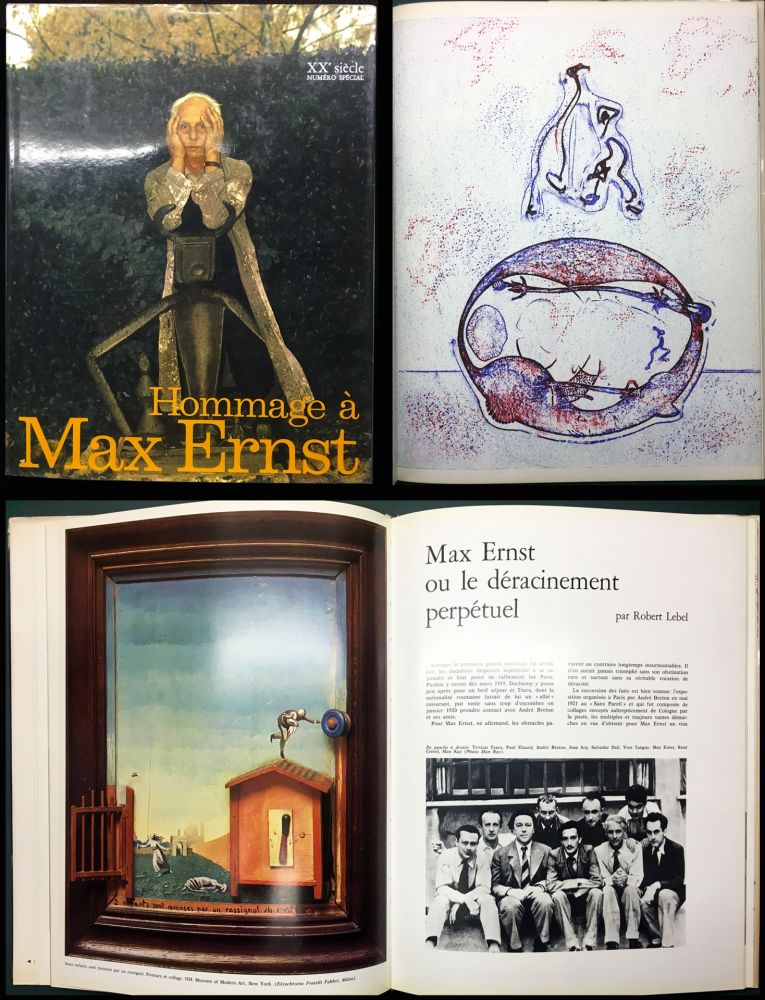 Illustrated Book Ernst - HOMMAGE A MAX ERNST - XXe Siècle - N° spécial 1971.