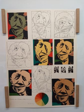 Lithograph Bury - Hommage a Picasso