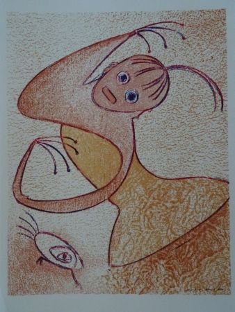 Lithograph Ernst - Hommage a San Lazarro