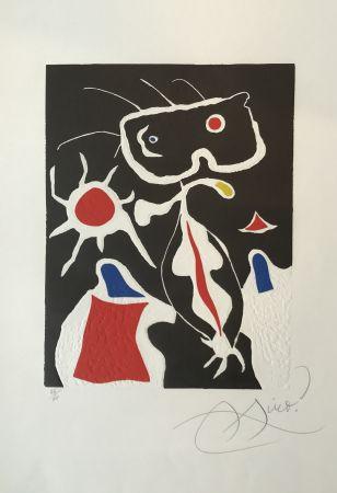 Linocut Miró - Hommage a San Lazzaro