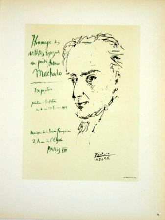 Lithograph Picasso (After) - Hommage au Poete  Antonio Marchado