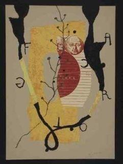Lithograph Texier - Hommage garcia lorca