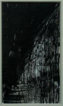 Lithograph Vieira Da Silva - Hommage Pessoa