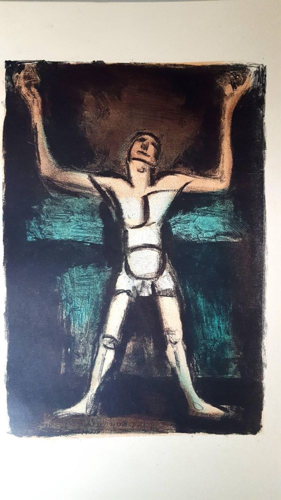 Lithograph Rouault (After) - Homme