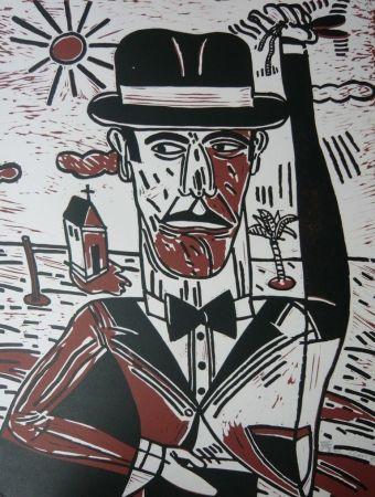 Lithograph Segui - Homme aux castagnettes