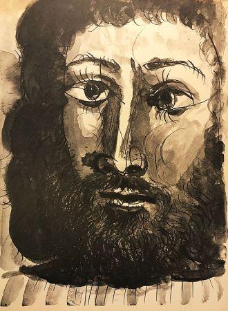 No Technical Picasso (After) - Homme barbu à la chemise rayée