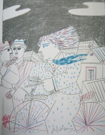 Lithograph Fassianos - Homme bleu
