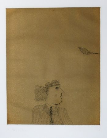 Etching And Aquatint Fassianos - Homme costumé