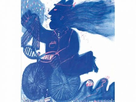 No Technical Fassianos - Homme et bicyclette bleue