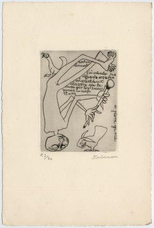Engraving Prinner - Homme jouant du pipeau (1938)