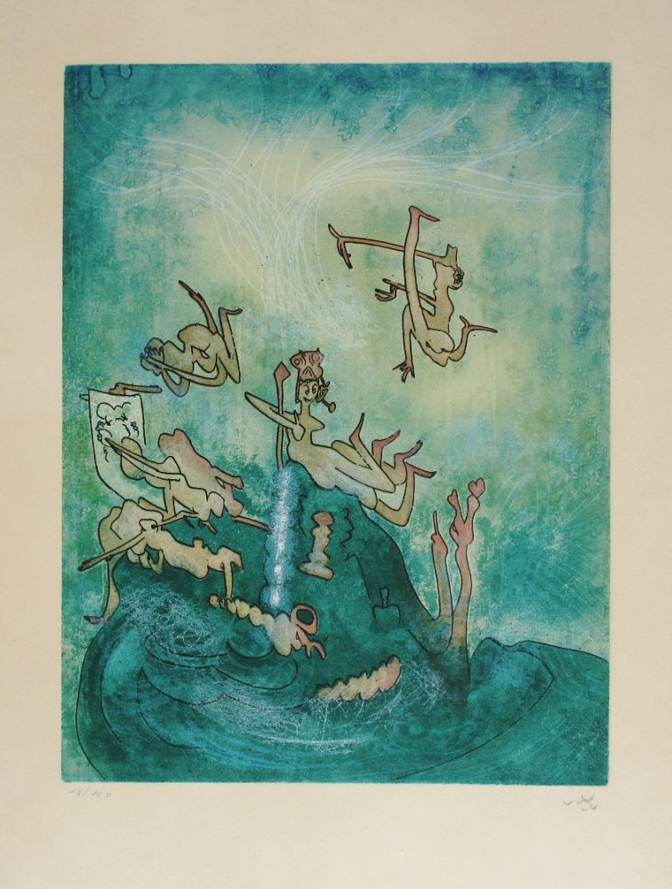 Etching And Aquatint Matta - HOM'MERE-Chaosmos