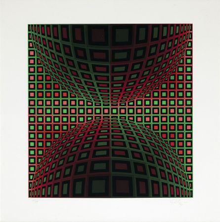 Screenprint Vasarely - Homok