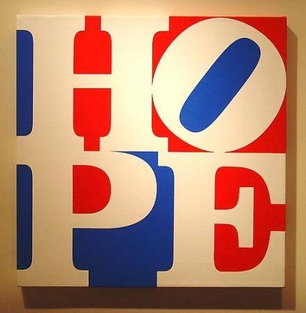 Screenprint Indiana - HOPE  W/R/B