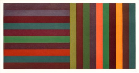 Etching And Aquatint Lewitt - Horizontal Color Bands and Vertical Color Bands II