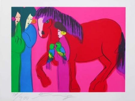 Lithograph Ting - Horse