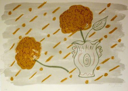 Lithograph Girona - HORTENSIES