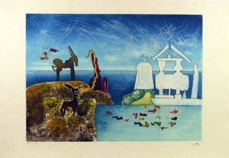 Etching And Aquatint Matta - Hours of the Day Series, 8am