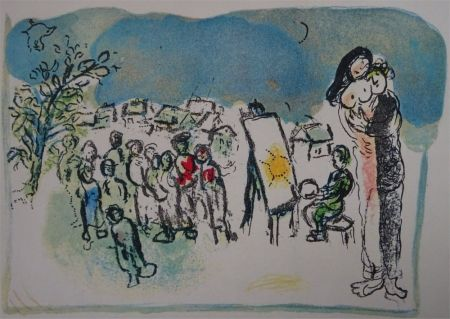 Lithograph Chagall - Humanisme actif