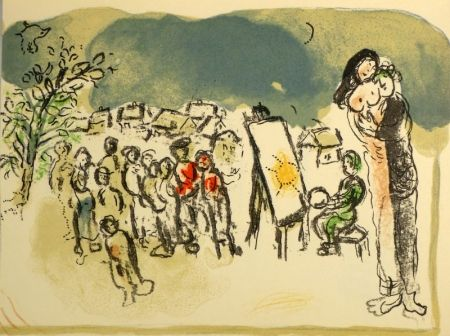 Lithograph Chagall - (Humanisme actif)