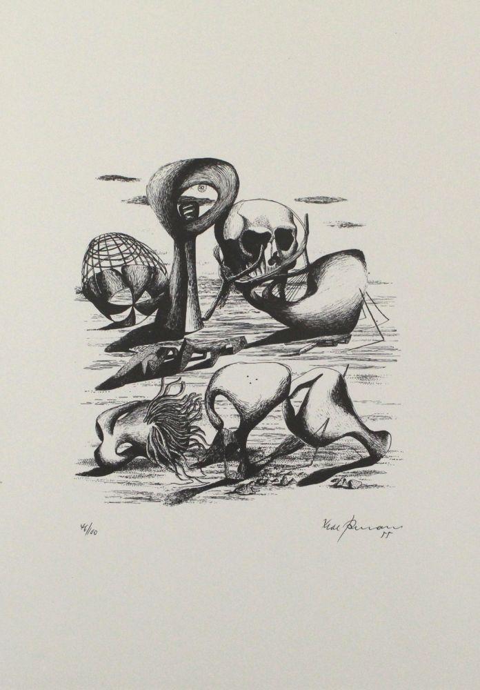 Lithograph Zimmermann - Hundert Jahre später