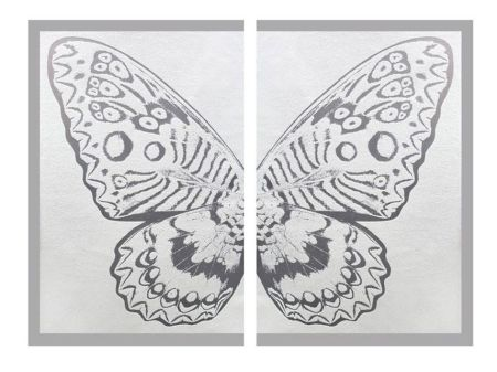 Multiple Robierb - Hybrid Silver Butterfly ll on White
