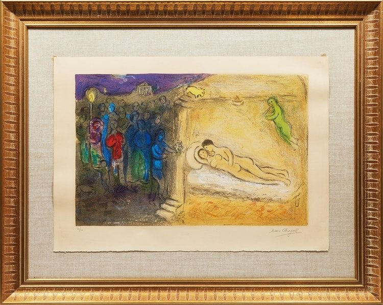 Lithograph Chagall - Hyménée from Daphnis and Chloé