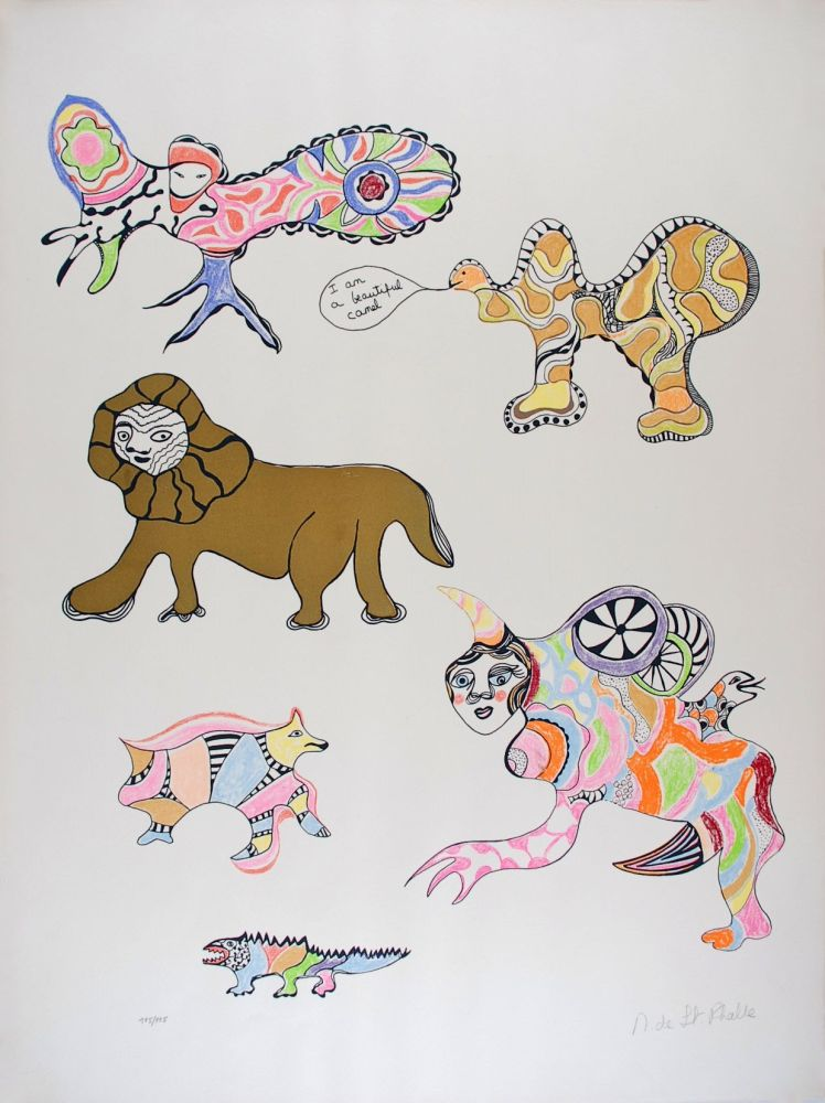 Screenprint De Saint Phalle - I am a beautiful camel (Nana Power)