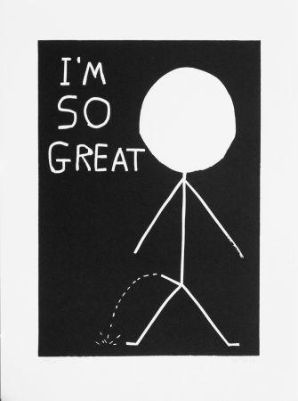Linocut Shrigley - I am so great
