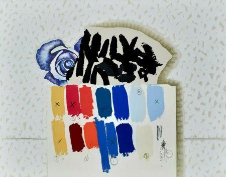Lithograph Pozzati - I campioni colorati