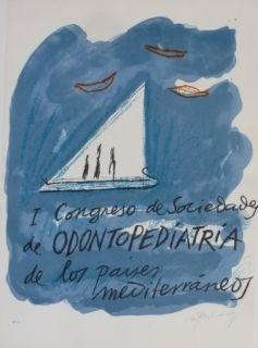 Lithograph Ràfols Casamada - I CONGRESO DE SOCIEDADA DE ODONTOPEDIATRIA