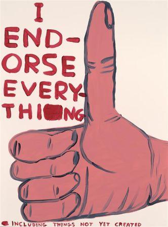 Screenprint Shrigley - I Endorse Everything