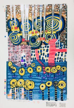 Screenprint Hundertwasser - I FIOR, SEGRETI DEL REI, LES FLEURS SECRETES DU ROI, DIE BLUMEN DES KÖNIG