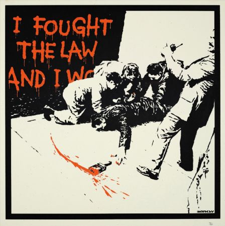 Screenprint Banksy - I FOUGHT THE LAW